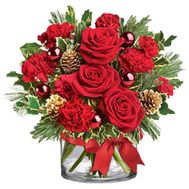 Composition for Christmas and New Year - flowers and bouquets on vambuket.com