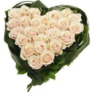 25 white roses - flowers and bouquets on vambuket.com