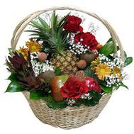 Fruit and flower basket - flowers and bouquets on vambuket.com