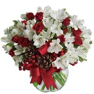 Buy a bouquet for Christmas with cones - flowers and bouquets on vambuket.com