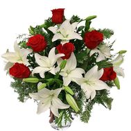 New Year''s bouquet with spruce - flowers and bouquets on vambuket.com