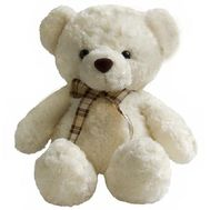 Soft toy - White bear - flowers and bouquets on vambuket.com
