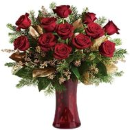 New Year''s bouquet of roses - flowers and bouquets on vambuket.com