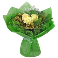 New Year''s bouquet with cones - flowers and bouquets on vambuket.com