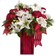 New Year bouquet of roses - flowers and bouquets on vambuket.com