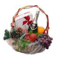 Gift basket for Christmas or New Year - flowers and bouquets on vambuket.com