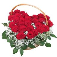 27 red roses - flowers and bouquets on vambuket.com