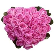 27 pink roses - flowers and bouquets on vambuket.com