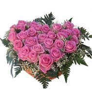 27 розовых роз - цветы и букеты на vambuket.com