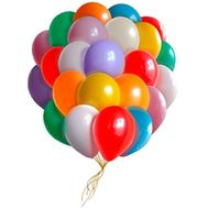 25 multi-colored balloons - flowers and bouquets on vambuket.com