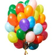 50 multi-colored balloons - flowers and bouquets on vambuket.com