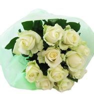 11 white roses - flowers and bouquets on vambuket.com