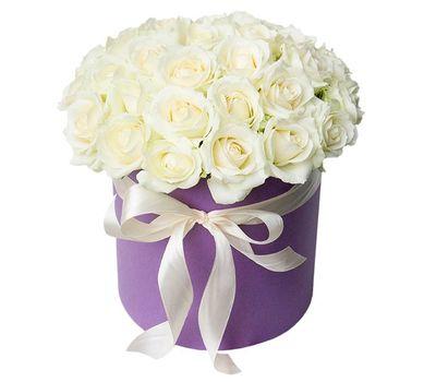 """""""Белые розы в коробке"""" в интернет-магазине цветов vambuket.com"""