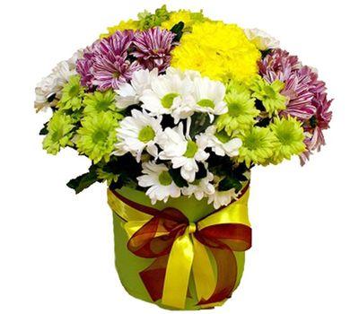 """""""Хризантемы в шляпной коробке"""" в интернет-магазине цветов vambuket.com"""