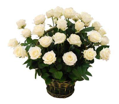 """""""Корзина цветов из 29 белых роз"""" в интернет-магазине цветов vambuket.com"""