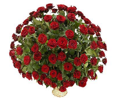 """""""Корзина цветов из 101 красной розы"""" в интернет-магазине цветов vambuket.com"""