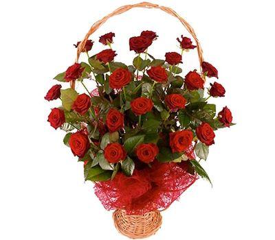 """""""Корзина цветов из 25 красных роз"""" в интернет-магазине цветов vambuket.com"""