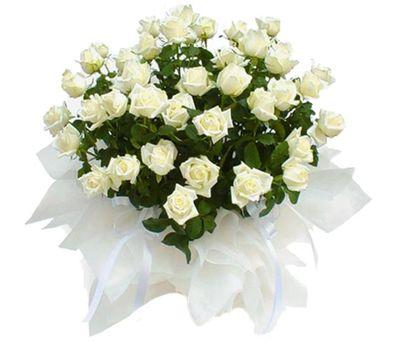 """""""Корзина цветов из 51 белой розы"""" в интернет-магазине цветов vambuket.com"""