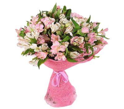 """""""Букет из 21 белой и розовой альстромерии"""" в интернет-магазине цветов vambuket.com"""