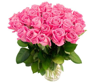 """""""Bouquet of 35 pink roses"""" in the online flower shop vambuket.com"""