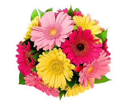 """""""Bouquet of 15 colorful ribbons"""" in the online flower shop vambuket.com"""