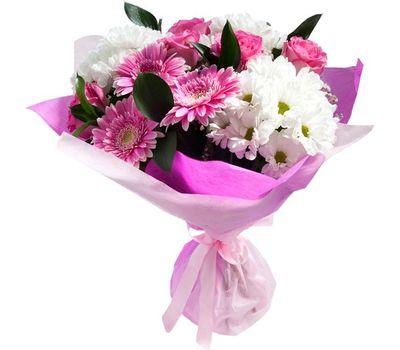 """""""Букет из 5 роз, 3 хризантем и 3 гербер"""" в интернет-магазине цветов vambuket.com"""