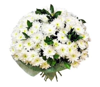 """""""Bouquet of 19 white chrysanthemums"""" in the online flower shop vambuket.com"""