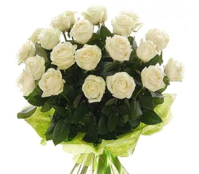 """Bouquet of 23 white roses"" in the online flower shop vambuket.com"