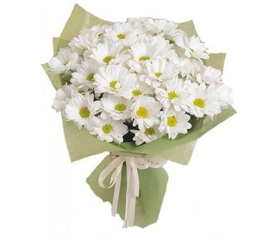"""""""Bouquet of 7 white chrysanthemums"""" in the online flower shop vambuket.com"""