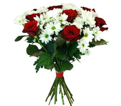 """""""Букет цветов из 7 роз и 6 хризантем"""" в интернет-магазине цветов vambuket.com"""