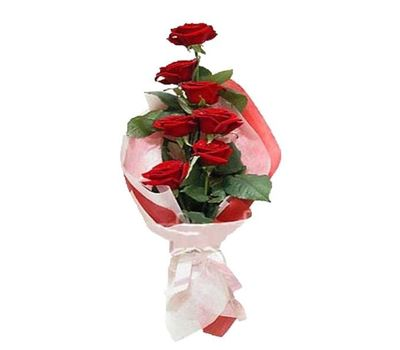 """Bouquet of 7 red roses"" in the online flower shop vambuket.com"