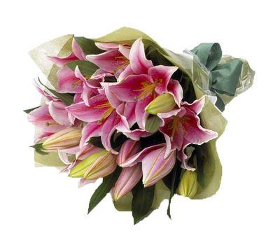 """""""Букет цветов из 5 розовых лилий"""" в интернет-магазине цветов vambuket.com"""