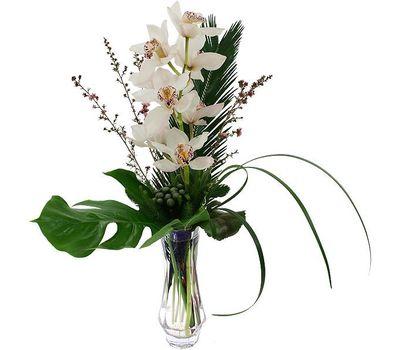 """""""Букет цветов из 1 ветки белой орхидеи"""" в интернет-магазине цветов vambuket.com"""