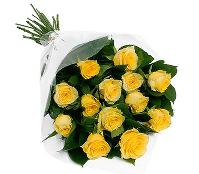 """""""Bouquet of 11 yellow roses"""" in the online flower shop vambuket.com"""