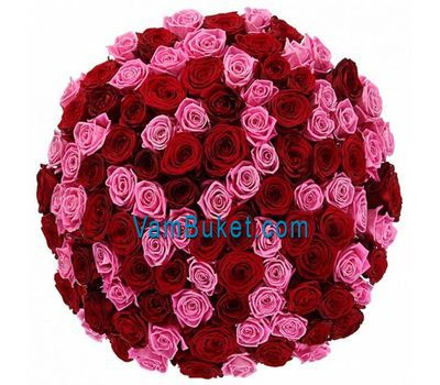 """101 red and pink roses"" in the online flower shop vambuket.com"