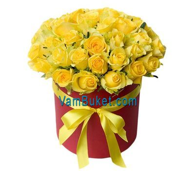 """""""35 желтых роз в коробке"""" в интернет-магазине цветов vambuket.com"""