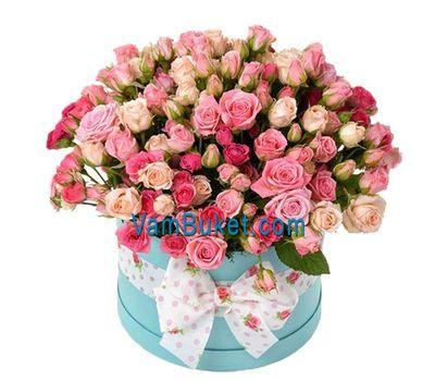 """Shrub roses in the box"" in the online flower shop vambuket.com"