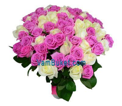 """""""Нежный букет из 101 розы"""" в интернет-магазине цветов vambuket.com"""