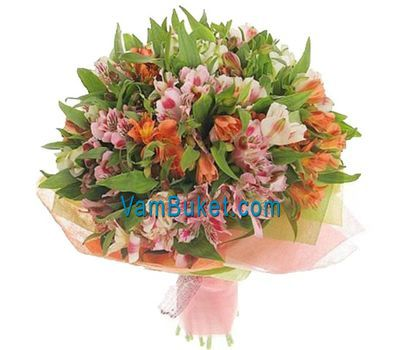 """Bouquet of 21 multicolored alstroemerias"" in the online flower shop vambuket.com"