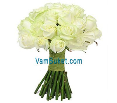 """Bouquet of 35 white roses"" in the online flower shop vambuket.com"