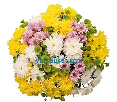 """Bouquet of 23 chrysanthemums"" in the online flower shop vambuket.com"