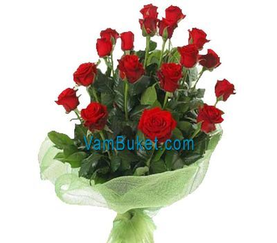"""Bouquet of 19 red roses"" in the online flower shop vambuket.com"