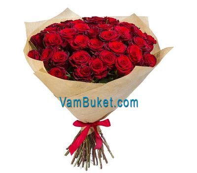 """Bouquet of 35 red roses"" in the online flower shop vambuket.com"