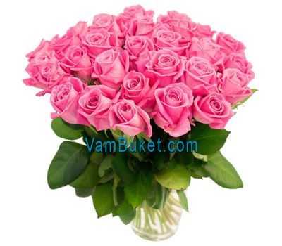 """Bouquet of 35 pink roses"" in the online flower shop vambuket.com"