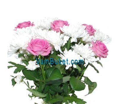 """""""Букет из 5 роз и 2 хризантем"""" в интернет-магазине цветов vambuket.com"""
