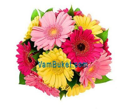"""Bouquet of 15 colorful ribbons"" in the online flower shop vambuket.com"