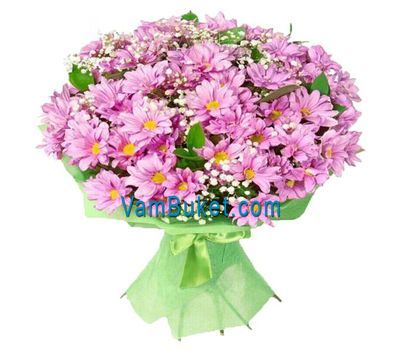 """Bouquet of 15 pink chrysanthemums"" in the online flower shop vambuket.com"