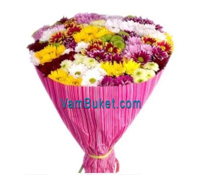 """Bouquet of 35 chrysanthemums"" in the online flower shop vambuket.com"