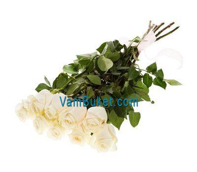 """""""Букет из 9 белых импортных роз"""" в интернет-магазине цветов vambuket.com"""