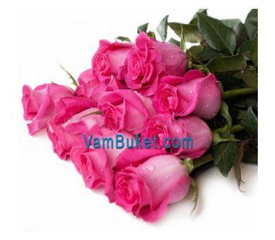 """""""Букет из 11 розовых импортных роз"""" в интернет-магазине цветов vambuket.com"""